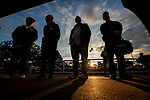 MAR 07: Punters stay after the last race to watch the final leg o f the Golden Hour Double at Santa Anita Park in Arcadia, California on March 7, 2020. Evers/Eclipse Sportswire/CSM