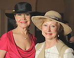 Jennifer Wiilson and Martha Walton at the Hermann Park Conservancy Hat Party Tuesday March 9,2010. (Dave Rossman Photo)
