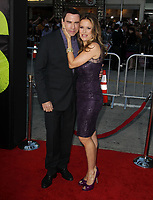 """12 July 2020 - Actress and wife of John Travolta Kelly Preston dead at age 57 from breast cancer.25 June 2012 - Westwood, California - John Travolta, Kelly Preston. """"Savages"""" - Los Angeles Premiere Held at A The Mann Village Theatre. Photo Credit: Kevan Brooks/AdMedia"""