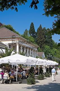 Germany, Baden-Wuerttemberg, Baden-Baden: spa building restaurant at spa gardens | Deutschland, Baden-Wuerttemberg, Baden-Baden: Kurhaus Restaurant im Kurpark