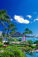 View of Waikiki and Diamond Head, Island of Oahu