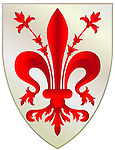 Stemma del Comune, Coat of Arms, Firenze, Florence, Italy