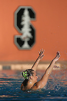 STANFORD, CA - FEBRUARY 7:  Allison Coates of the Stanford Cardinal during Stanford's 88-78 win against the Incarnate Word Cardinals on February 7, 2009 at Avery Aquatic Center in Stanford, California.
