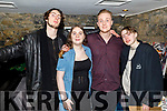 Enjoying New Years Eve in Croi.<br /> L to r: James Bradley, Valerie O'Sullivan, Kieran Brookes and Billy Cubberly.