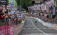 Pierre Rolland (FRA/Cannondale-Drapac) finally giving his team a much awaited victory<br /> <br /> Stage 17: Tirano › Canaze (219km)<br /> 100th Giro d'Italia 2017