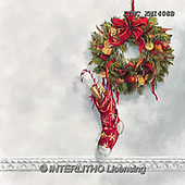 Marcello, CHRISTMAS SYMBOLS, WEIHNACHTEN SYMBOLE, NAVIDAD SÍMBOLOS, paintings+++++,ITMCXM1408B,#XX# ,Christmas stockings ,Christmas wreath
