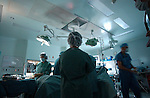 wide shot of hospital operating room during gall bladder endoscopy