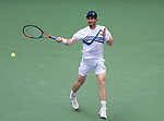 August  30, 2021:   Andy Murray (GBR) loses to Stefanos Tsitsipas (GRE) 6-2, 6-7, 6-3, 3-6, 4-6, at the US Open being played at Billy Jean King Ntional Tennis Center in Flushing, Queens, New York / USA ©Leslie Billman/Tennisclix/CSM