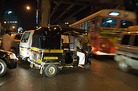 Mumbai trafic at night, central Mumbai India,