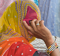 Travelling from Agra to Jaipur, Hindu Ceremony in the Rural Area, Rajasthan, India