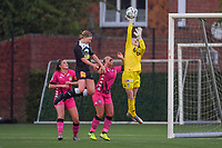 goalkeeper Ambre Collet (1) of Sporting Charleroic pictured during a female soccer game between Sporting Charleroi and Eendracht Aalst on the 8th matchday in play off 2 of the 2020 - 2021 season of Belgian Scooore Womens Super League , tuesday 18 th of May 2021 in Marcinelle , Belgium . PHOTO SPORTPIX.BE   SPP   STIJN AUDOOREN