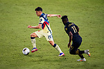 Richard Sanchez of Club America (MEX) in action during their CONCACAF Champions League Semi Finals match against Los Angeles FC (USA) at the Orlando's Exploria Stadium on 19 December 2020, in Florida, USA. Photo by Victor Fraile / Power Sport Images