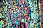 Rusty and weathered Coca-Cola sign, Coulterville, Calif.