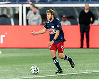 FOXBOROUGH, MA - OCTOBER 3: Scott Caldwell #6 of New England Revolution looks to pass during a game between Nashville SC and New England Revolution at Gillette Stadium on October 3, 2020 in Foxborough, Massachusetts.
