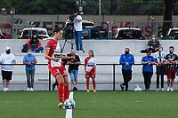 Charlotte Laridon (9) of Zulte Waregem starting the female soccer game between Sporting Charleroi and SV Zulte-Waregem on the third matchday in the 2021 - 2022 season of Belgian Scooore Womens Super League , friday 3 September 2021 in Marcinelle , Belgium . PHOTO SPORTPIX | STIJN AUDOOREN