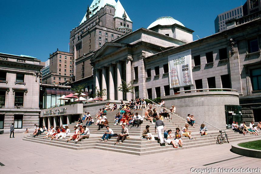 Vancouver: Law Courts--Robson Square. Vancouver Art Gallery, Annex.