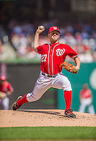 15 September 2013: Washington Nationals pitcher Jordan Zimmermann on the mound against the Philadelphia Phillies at Nationals Park in Washington, DC. The Nationals took the rubber match of their 3-game series 11-2 keeping their wildcard postseason hopes alive. Mandatory Credit: Ed Wolfstein Photo *** RAW (NEF) Image File Available ***