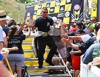 Jun 18, 2017; Bristol, TN, USA; NHRA funny car driver Jim Campbell during the Thunder Valley Nationals at Bristol Dragway. Mandatory Credit: Mark J. Rebilas-USA TODAY Sports