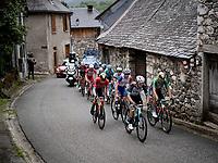 chasing group including Michael Matthew (AUS/BikeExchange) and Sonny Colbrelli (ITA/Bahrain - Victorious) up the Col de Portet-d'Aspet<br /> <br /> Stage 16 from El Pas de la Casa to Saint-Gaudens (169km)<br /> 108th Tour de France 2021 (2.UWT)<br /> <br /> ©kramon