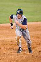 Lake County designated hitter Nick Weglarz (8) takes off from second base versus Kannapolis at Fieldcrest Cannon Stadium in Kannapolis, NC, Saturday, August 11, 2007.
