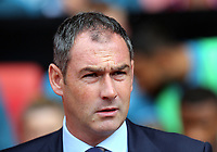 Swansea manager Paul Clement stands on the touch line during the Premier League match between Southampton and Swansea City at the St Mary's Stadium, Southampton, England, UK. Saturday 12 August 2017