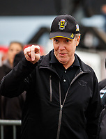 Sep 1, 2017; Clermont, IN, USA; NHRA president Peter Clifford during qualifying for the US Nationals at Lucas Oil Raceway. Mandatory Credit: Mark J. Rebilas-USA TODAY Sports