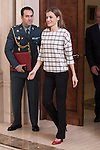 20141103 Queen Letizia of Spain Attends Several Audiences