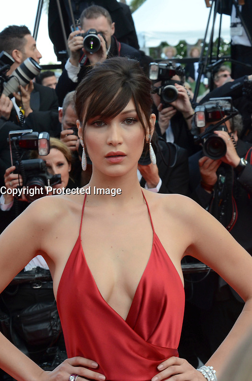 Bella Hadid attend 'The Unknown Girl (La Fille Inconnue)' Premiere during the 69th annual Cannes Film Festival at the Palais des Festivals on May 18, 2016 in Cannes, France