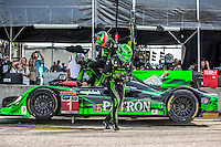 Driver change, #1 HPD ARX-04b 01/Honda ,  Scott Sharp, David Hansson, Ryan Dalziel   12 Hours of Sebring, Sebring International Raceway, Sebring, FL, March 2015.  (Photo by Brian Cleary/ www.bcpix.com )