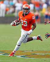 Virginia Cavaliers cornerback Brendan Morgan (23) runs with the ball during the second half of an NCAA football game against the Richmond Spiders Saturday September, 1, 2012 at Scott Stadium in Charlottesville, Va. Virginia defeated Richmond 43-19.