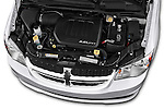 Car Stock 2018 Dodge Grand-Caravan SE 5 Door Minivan Engine  high angle detail view