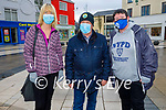 Enjoying a stroll in Tralee on Tuesday, l to r: Paula Casey, Richie Houlihan and Martina Griffin .