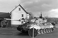 - NATO exercises in Germany, Leopard tank of German Army (January 1985)<br /> <br /> - esercitazioni NATO in Germania, carro armato Leopard dell'esercito tedesco (Gennaio 1985)