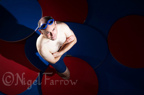 18 OCT 2011 - DEREHAM, GBR - Iain Dawson poses for a picture after a swim training session (PHOTO (C) NIGEL FARROW)
