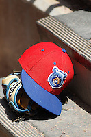 A Tennessee Smokies player's cap in the dugout before a game against the Jacksonville Suns at Bragan Field on the Baseball Grounds of Jacksonville on June 13, 2015 in Jacksonville, Florida.  Tennessee defeated Jacksonville 12-3. (Robert Gurganus/Four Seam Images)