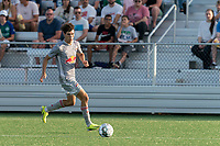 HARTFORD, CT - JULY 10: Jeremy Rafanello #36 of New York Red Bulls II dribbles down the wing during a game between New York Red Bulls II and Hartford Athletics at Dillon Stadium on July 10, 2021 in Hartford, Connecticut.