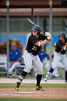 Pittsburgh Pirates first baseman Mason Martin (25) at bat during a Florida Instructional League game against the Toronto Blue Jays on September 20, 2018 at the Englebert Complex in Dunedin, Florida.  (Mike Janes/Four Seam Images)
