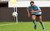 WASHINGTON D.C., ON MARCH 28, 2021 - MARCH 28: Washington, D.C.- March 28: Sky Blue FC defender Imani Dorsey (28) during a match between the Washington Spirit and Sky Blue FC at Audi Field, in Washington D.C., on March 28, 2021 during a game between Sky Blue FC and Washington Spirit at Audi Field, in Washington D.C., on March 28, 2021 in Washington D.C., on March 28, 2021.
