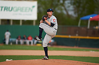 Lake County Captains starting pitcher Shane McCarthy (34) during a Midwest League game against the Beloit Snappers at Pohlman Field on May 6, 2019 in Beloit, Wisconsin. Lake County defeated Beloit 9-1. (Zachary Lucy/Four Seam Images)