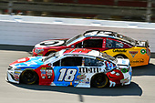 Monster Energy NASCAR Cup Series<br /> FireKeepers Casino 400<br /> Michigan International Speedway, Brooklyn, MI USA<br /> Sunday 18 June 2017<br /> Kyle Busch, Joe Gibbs Racing, M&M's Red, White & Blue Toyota Camry and Kyle Larson, Chip Ganassi Racing, Cars 3 Target Chevrolet SS<br /> World Copyright: Nigel Kinrade<br /> LAT Images