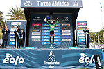 Tadej Pogacar (SLO) UAE Team Emirates wins the overall general classification and the mountains Maglia Verde of Tirreno-Adriatico Eolo 2021 after Stage 7, an individual time trial running 10.1km around San Benedetto del Tronto, Italy. 16th March 2021. <br /> Photo: LaPresse/Gian Mattia D'Alberto | Cyclefile<br /> <br /> All photos usage must carry mandatory copyright credit (© Cyclefile | LaPresse/Gian Mattia D'Alberto)