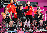 Lima, Peru -  30/August/2019 -   Canada takes on the USA in the gold medal game in women's wheelchair basketball at the Parapan Am Games in Lima, Peru. Photo: Dave Holland/Canadian Paralympic Committee.