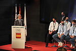 The Spanish national handball team, Los Hispanos, led by Jordi Ribera and a bronze medalist at the 2021 Egypt World Championship, received at the Spanish Olympic Committee by its president, Alejandro Blanco. February 1, 2021. (ALTERPHOTOS/Ricardo Blanco)