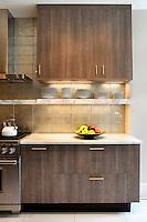 Wooden cupboards