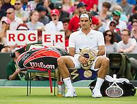 25-06-12, England, London, Tennis , Wimbledon, Roger Federer