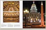The Colorado State Capitol and WWII Memorial at night.<br /> Custom photo tours of Denver by John. Click the above CONTACT button for inquiries. Denver Colorado tours.