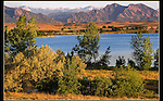 Standley Lake looking north to Boulder and the Flatirons. From John's 5th book. <br />