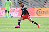 WASHINTON, DC - FEBRUARY 29: Washington, D.C. - February 29, 2020: Ulises Segura #8 of D.C. United moves the ball during a game between D.C. United and the Colorado Rapids. The Colorado Rapids defeated D.C. United 2-1 during their Major League Soccer (MLS)  match at Audi Field during a game between Colorado Rapids and D.C. United at Audi FIeld on February 29, 2020 in Washinton, DC.