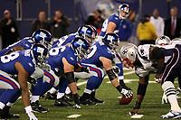 Giants in Aufstellung<br /> New York Giants vs. New England Patriots<br /> *** Local Caption *** Foto ist honorarpflichtig! zzgl. gesetzl. MwSt. Auf Anfrage in hoeherer Qualitaet/Aufloesung. Belegexemplar an: Marc Schueler, Am Ziegelfalltor 4, 64625 Bensheim, Tel. +49 (0) 6251 86 96 134, www.gameday-mediaservices.de. Email: marc.schueler@gameday-mediaservices.de, Bankverbindung: Volksbank Bergstrasse, Kto.: 151297, BLZ: 50960101