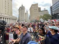 NEW YORK, NY- SEPTEMBER 13: View of the Great American Walkout No Mandates No Passports Rally at Foley Square in New York City on September 13, 2021. Credit: Rainmaker Photo/MediaPunch